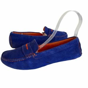 Johnston & Murphy Blue and Orange Loafers Size 8